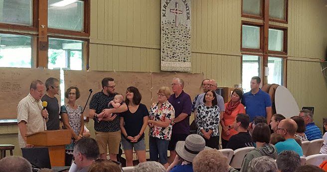 Baby Dedication at Camp Kirkmont